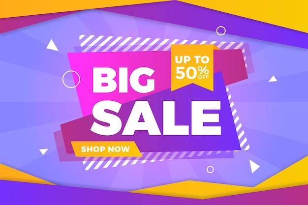 Big sale abstract colourful background