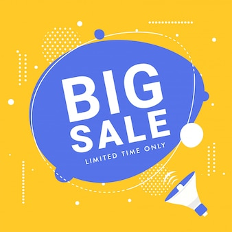 Big sale advertising poster