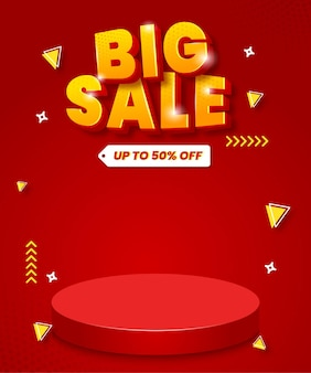 Big sale background for promotion