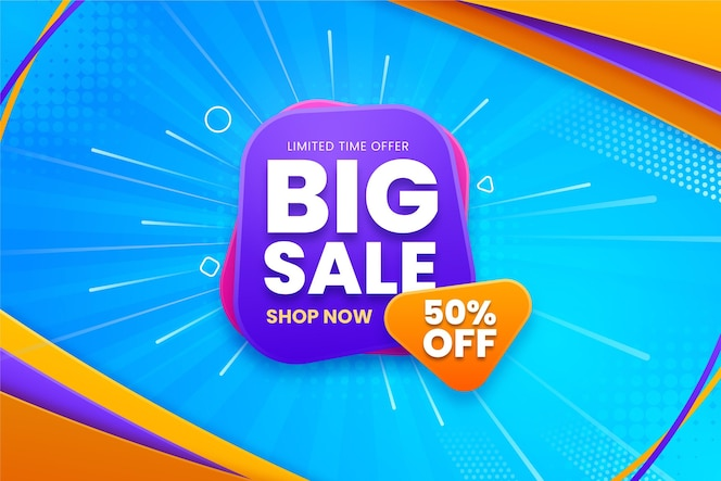 Big sale background with offer