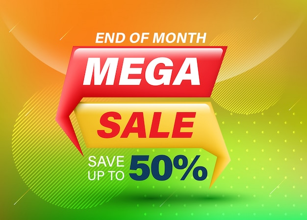 The big sale banner on abstract mesh background