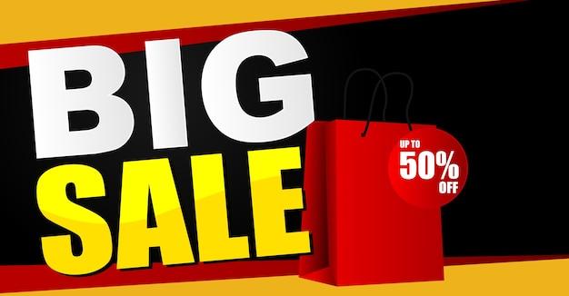 Big sale banner background