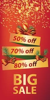 Big sale banner design. christmas cracker