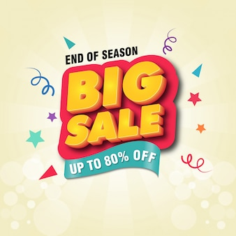 Big sale banner design template