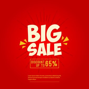 Big sale banner design template
