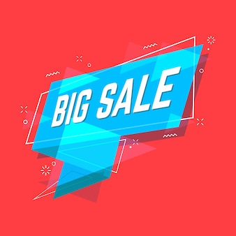 Big sale banner flat style.