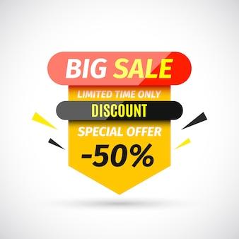 Big sale banner.  illustration.
