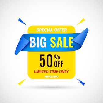 Big sale banner.  illustration.