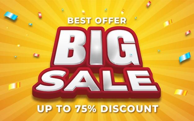 Big sale banner lettering design illustration