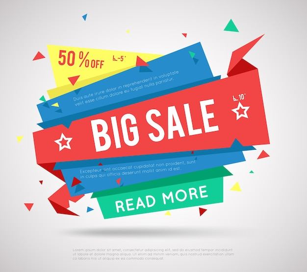 Banner di grande vendita. etichetta di vendita moderna, super vendita o banner di vendita di offerte speciali