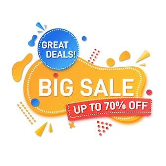 Big sale banner modern style design vector illustration