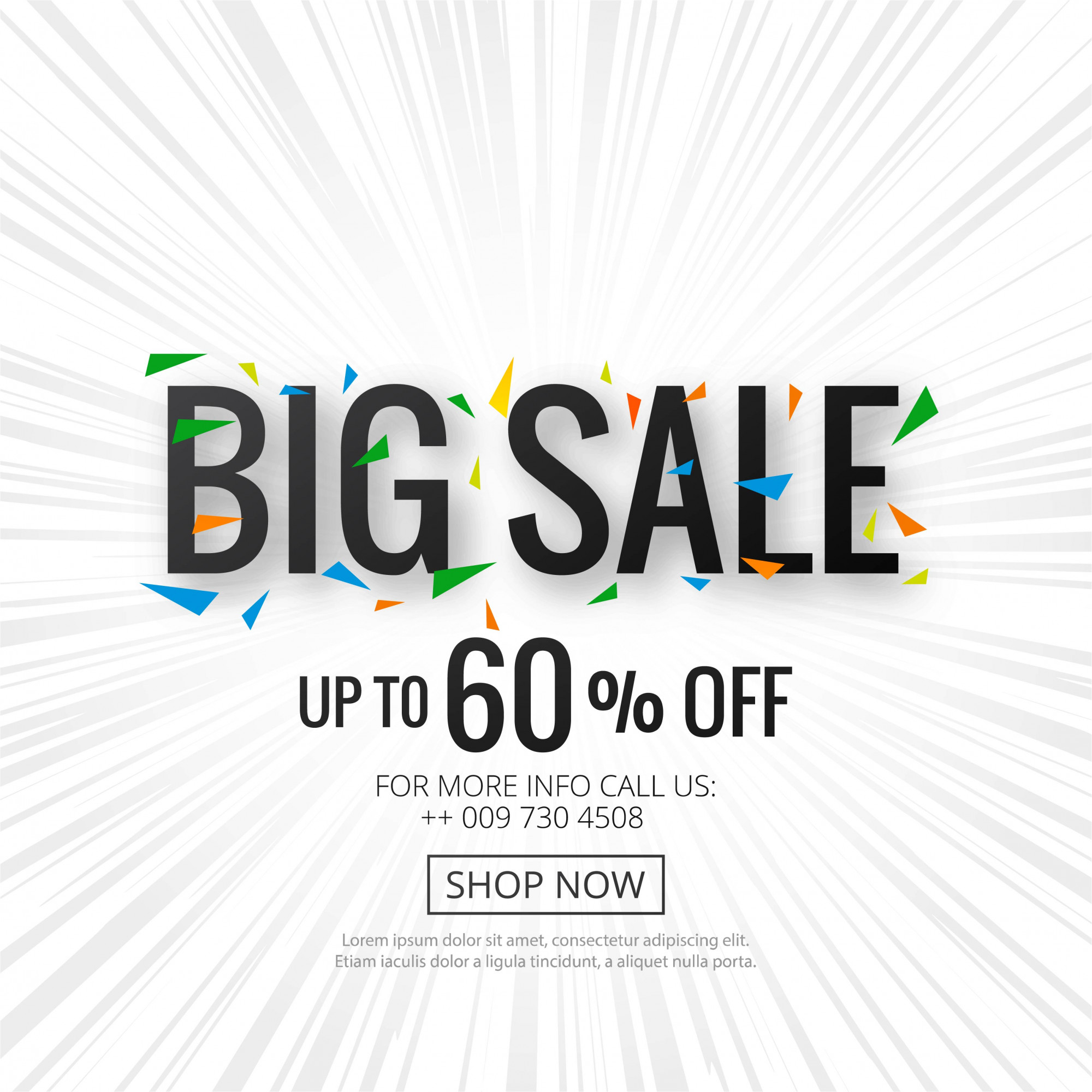 Big sale banner poster template background vector