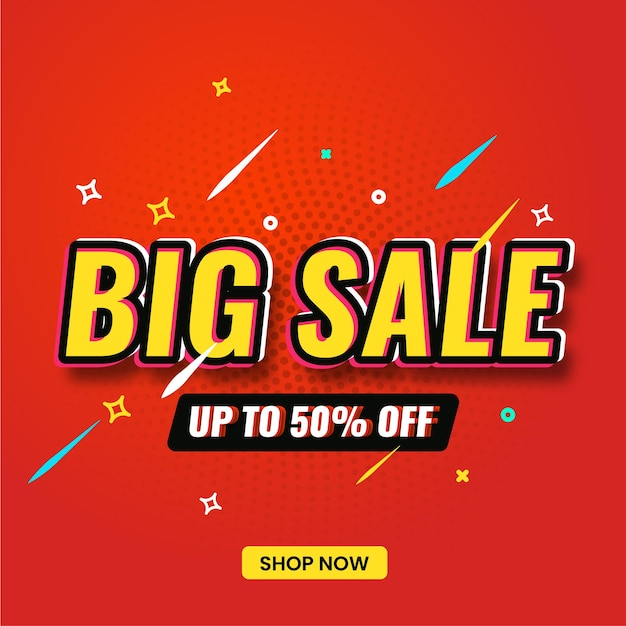 Big sale banner for sale and promotion