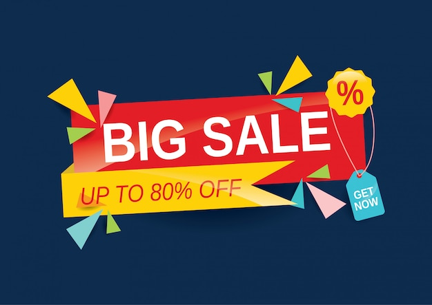 Big sale banner for social media