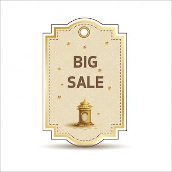 Big sale banner template for discounts promotion