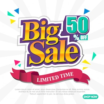 Big sale banner template
