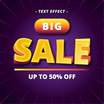 Big sale banner text style effect