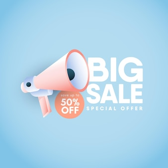 Big sale banners design template.