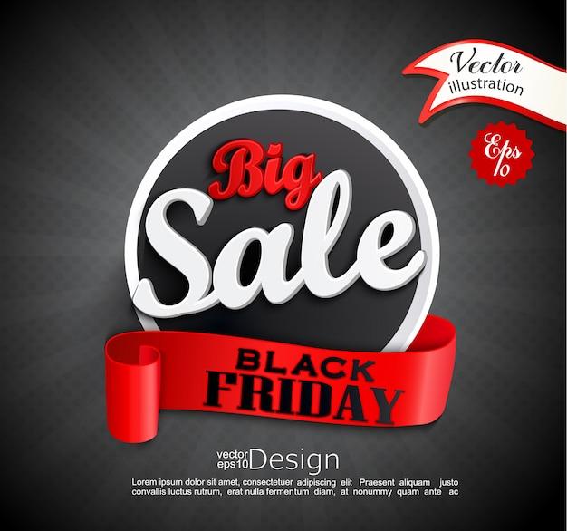 큰 판매-검은 금요일.