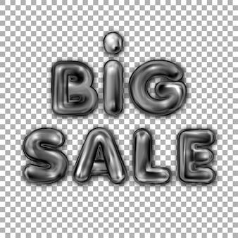 Big sale black latex balloon lettering