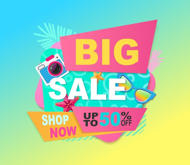 Big sale bright banner.