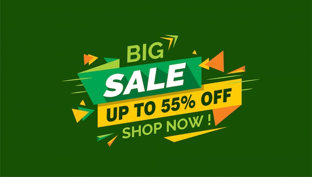 Big sale, colorful sale banner