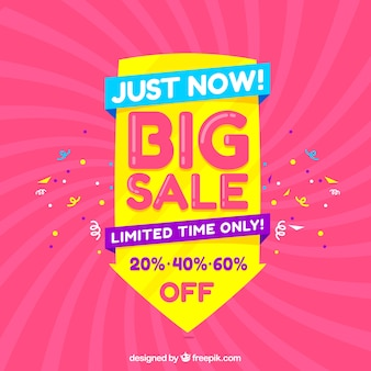 Big sale composition with confetti