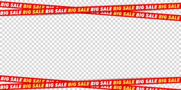 Big sale crossed tape frame border design element