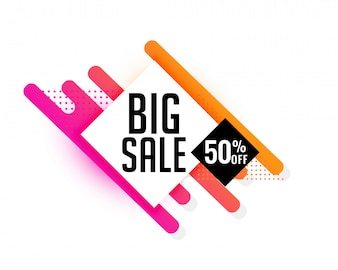 Big sale discount banner design