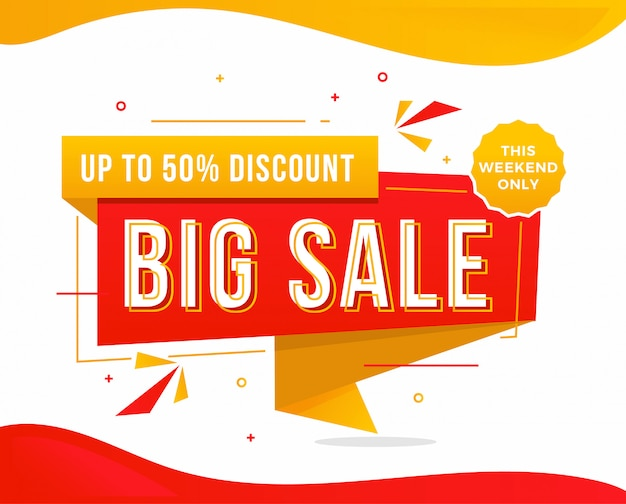 Промоушен рекламного шаблона big sale