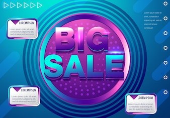 Big sale discount - layout concept illustration