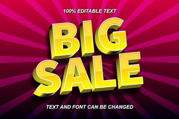 Big sale editable text effect comic style