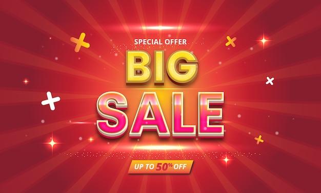 Big sale editable text effect