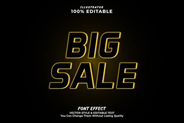 Big sale editable text effect
