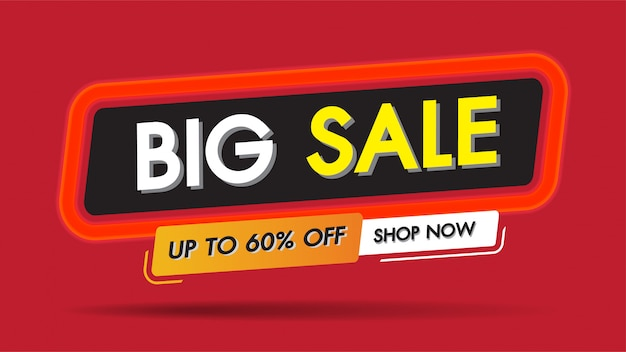 Big sale fire burn frame template banner discount concept