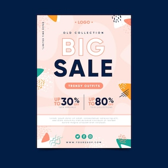 Big sale flyer template design