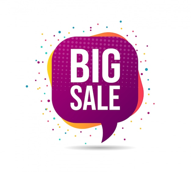 Big sale graphic bubble