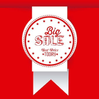 Big sale icons and labels
