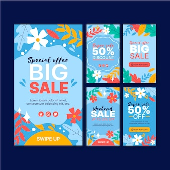Big sale instagram stories template