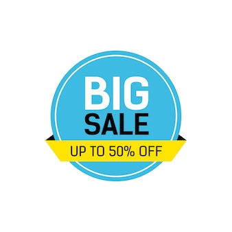 Big sale lettering in round frame Free Vector