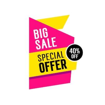 Big sale lettering on tag