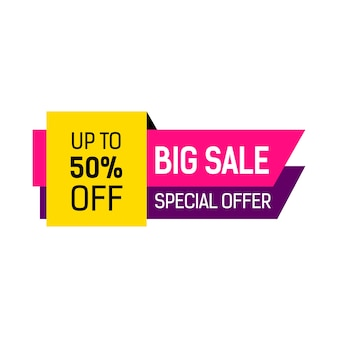 Big Sale Multicolored Banner