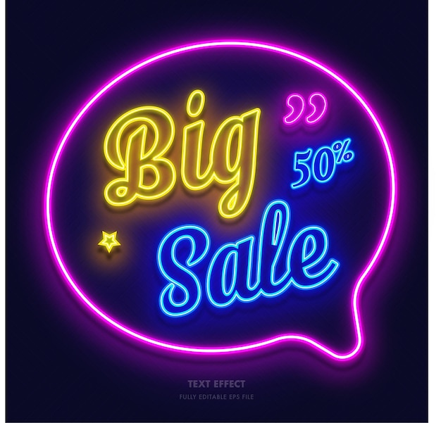 Big sale neon glow effect