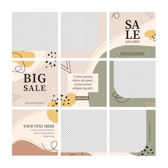 Big sale post instagram puzzle feed template