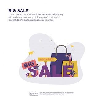 Большая распродажа, реклама в социальных сетях, баннер