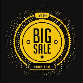 Big sale promotion banner template in yellow
