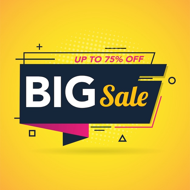 Big sale promotion banner template