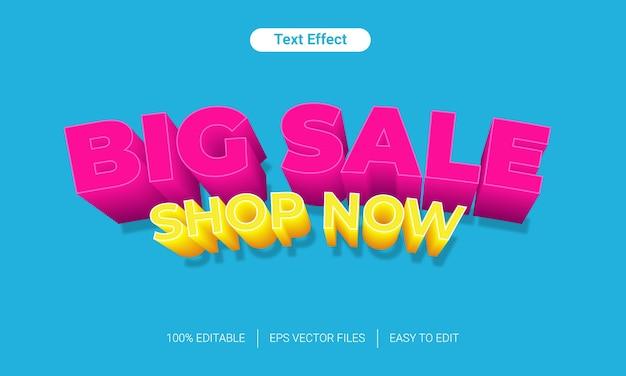 Big sale shop now fun color text style effect