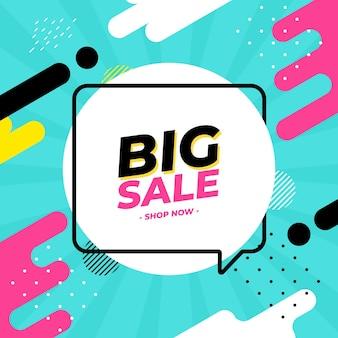 Big sale shop now social media post