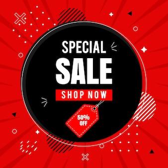 Big sale shop now social media post Premium Vector